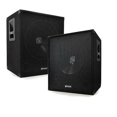 """1200W Pro Audio 15"""" Inch Active Subwoofer Sub Bass Bins"""