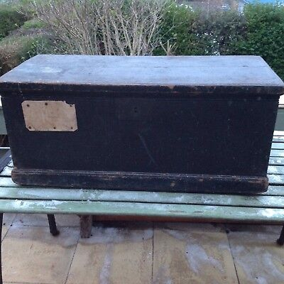 vintage blanket box 1850 Chest Coffee Table