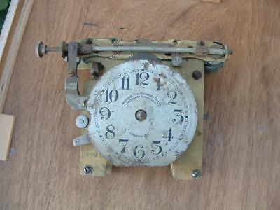 part of vintage National Time Recorder clock movement for spares or repairs