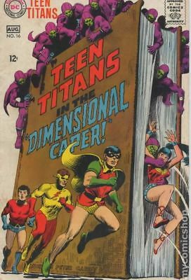 Teen Titans (1st Series) #16 1968 VG 4.0 Stock Image Low Grade