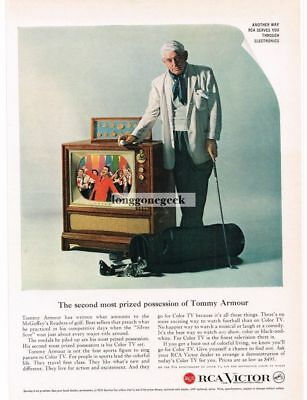 1959 RCA VICTOR Color TV TOMMY ARMOUR Pro Golfer VTG PRINT AD