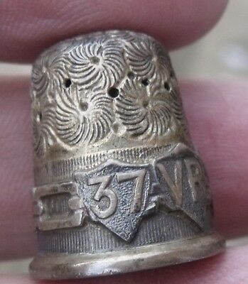 Antique Silver Queen Victoria 1897 Diamond Jubilee Commemorative Thimble