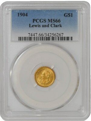 1904 $ Gold Lewis & Clark Dollar MS66 PCGS