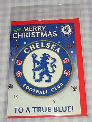 Official Chelsea Football Club Supporters Team Crest Christmas Card Bnip