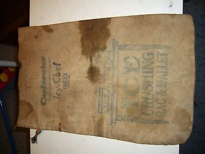 Vintage Advertising Coolerator Ice Crushing Bag Icy-Chef