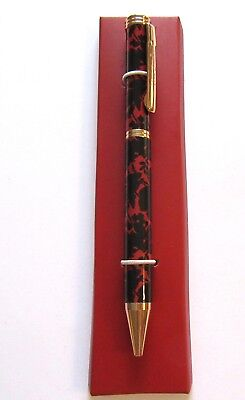 Vera Bradley Silhouette Floral Ball Point Pen - red & black floral pattern