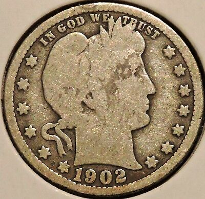 Barber Quarter - 1902-O - Historic Silver! - $1 Unlimited Shipping.