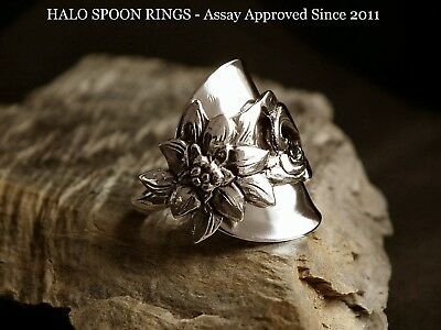 Wow Stunning Eidelweiss Sterling Silver Spoon Ring  Last One Available!!!!