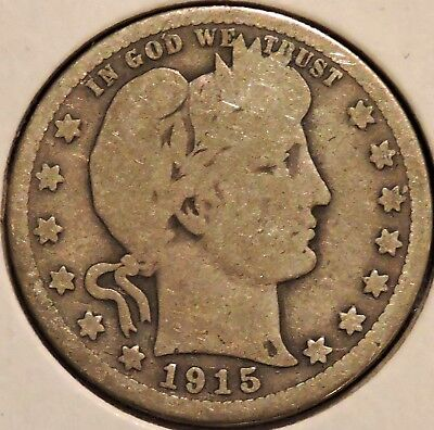 Barber Quarter - 1915 - Historic Silver! - $1 Unlimited Shipping.