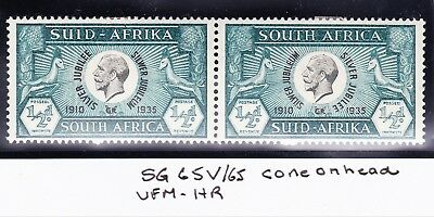 SouthAfrica1935 JUBILEE 1/2d CONSTANT VARIETY R 3/2 CONE ON HEAD VF MMOG SG65Var