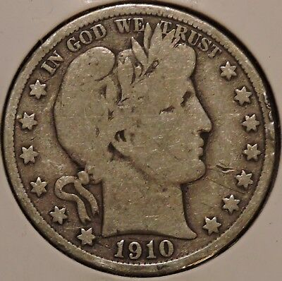 Barber Half - 1910-S - Historic Silver! - $1 Unlimited Shipping