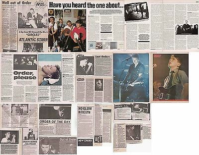 NEW ORDER : CUTTINGS COLLECTION -interviews etc- 1980s
