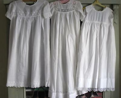 Two Antique Baby/Dolls Gowns and One Petticoat