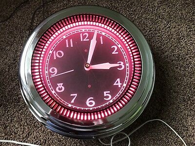 Rare Vintage  Spinner Clock Made By Neon Clock Sales Of Chicago