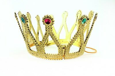 Gold Royal King Plastic Crown Prince Costume Accessory Adult/Kid