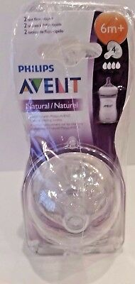 8 PACK Philips Avent Natural Nipple 6 months + Fast Flow NEW/SEALED