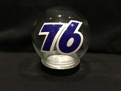 Vintage RARE Unocal Union 76 Glass Globe Container Advertising