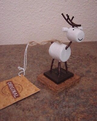 Cute Vtg Midwest of Cannon Mills Original S'mores Reindeer Ornament MIP