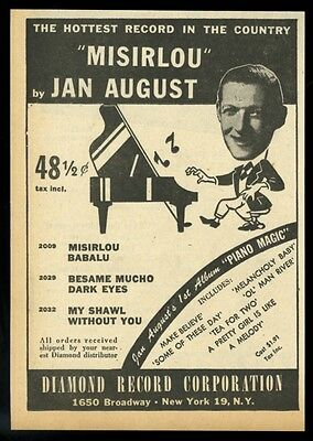 1946 Jan August photo Misirlou record release music trade print ad
