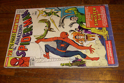 """AMAZING SPIDER-MAN ANNUAL #1 (1964), CANADIAN EDITION, no ads, """"GOOD"""""""