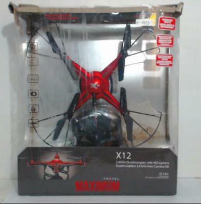 Propel VL-3582 Maximum X12 Video Drone Quadcopter Red $100
