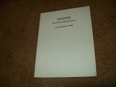 1968 Oliver Tractor White Motor Corporation Annual Business Report Moline