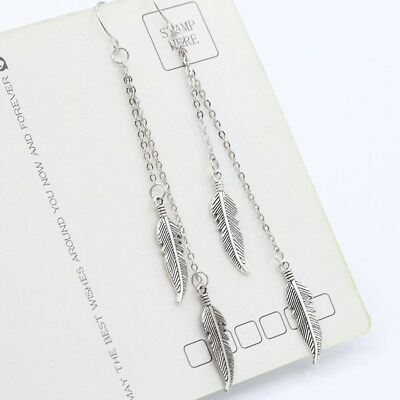 Long Tassel Feather Drop Earrings Fashion Jewelry boucle d'oreille Women Dangle