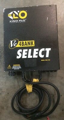 Kino Flo 4 bank VE Select Ballast with independent switches. Gaffer Owned