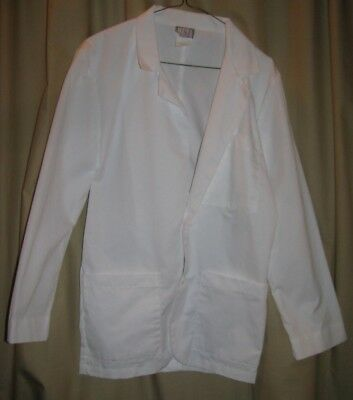 White Meta Mens Size XS 32 Warm up Jacket Consultantcoat Professional Student