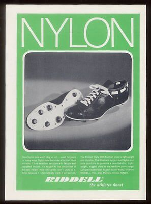 1970 Riddell football cleats shoes vintage print ad