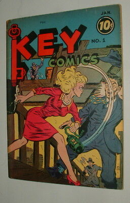 1944 Key Comics Issue #1 Comic Book Very Good Complete