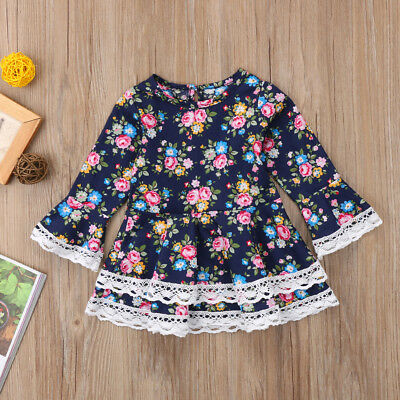 Cute Newborn Baby Girl Kid Party Tulle Dress Spring Top Vintage Lace Sundress