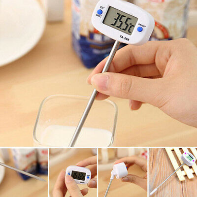 Digital Food Thermometer For Kitchen Cooking Oil Water Milk Coffee -50℃~300℃ New