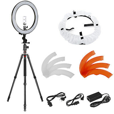 """Neewer 18"""" Outer Dimmable 240 SMD LED Ring Light 55W with Light Tripod Kit"""