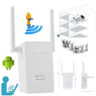 300Mbps Wireless-N Range Extender WiFi Repeater Signal Booster Network Router