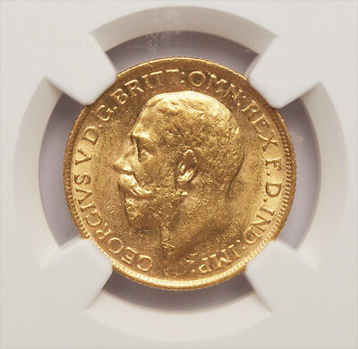 RARE KING GEORGE THE V 1924 S GOLD SOVEREIGN....Mint State
