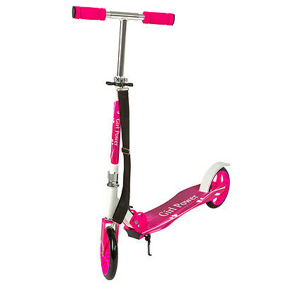 Scooter Roller Tretroller Cityroller Kinderroller klappbar 205 mm Wheel pink