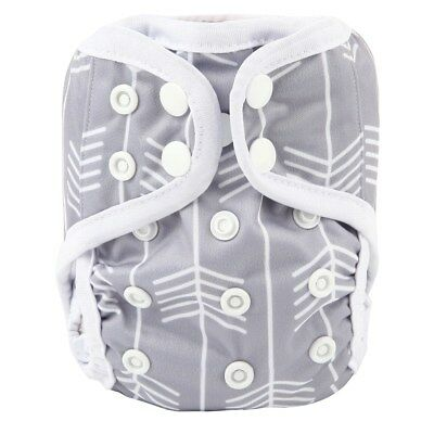 2018 NEWBORN Cloth Diaper Cover Baby Nappy Reusable 2 Leg Gusset 8-10lbs Arrow
