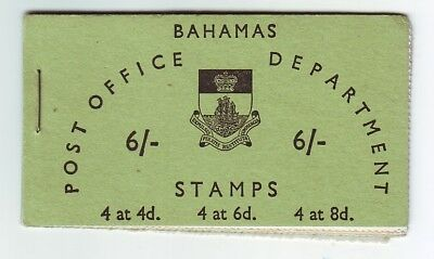 OLD CARIBBEAN  ISLANDS  of BAHAMAS BOOKLET  MINT  6 SHILLINGS SG NO:SB5 $CV50AUD