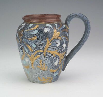 Antique Doulton Lambeth - Slater's Patent Textured Jug - Lovely!