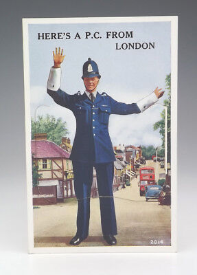 Vintage Here's A P.C. From London Postcard - Policeman Police Themed Postcard