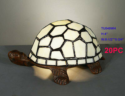 Tiffany Style Stained Glass Leadlight Turtle Table Lamp Night Light New
