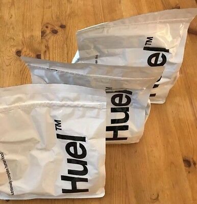 Huel Powdered Food. 3 x 1.7k Unflavoured Unsweetened. Unopened. Just out of date