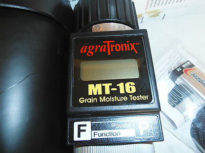 Farmex/Agratronix MT-16 Grain Moisture Tester - Accurate & Reliable