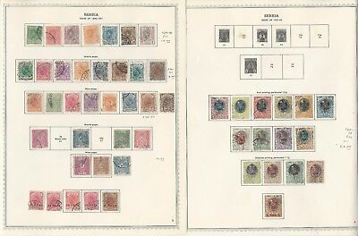 Serbia Collection 1866 to 1943 on 26 One-Sided Minkus Specialty Pages