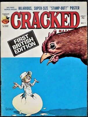 CRACKED Magazine #1 - First British Edition 1977 - POSTER NOT INCLUDED