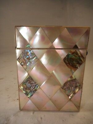 Antique Abalone & Mother of Pearl Card Case   ref 4123