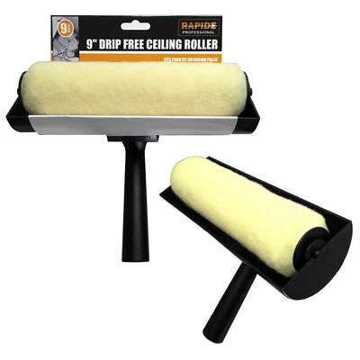 """Large 9"""" Ceiling Anti Non Drip Painting Paint Decorating Roller Guard Brush Tool"""