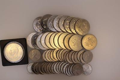 $19 Face Value Old Canadian Dollars And Quarters And One 1939 Bu Silver Dollar