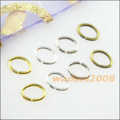 120 New Gold Dull Silver Bronze Plated Connectors 7x9mm Oval Jump Open Rings